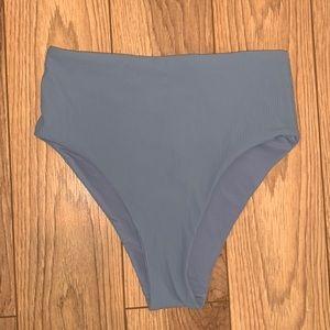 high waisted ribbed bikini bottoms